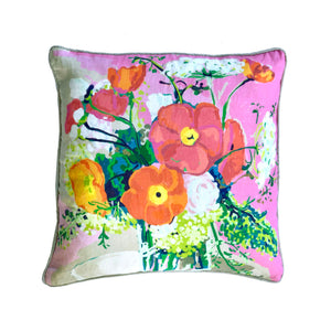 PILLOW sham Pink Bouquet