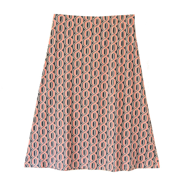 SLOAN skirt Navy-Orange Helix