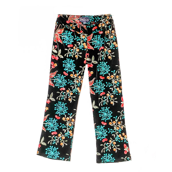 AUDREY Embroidered Velvet Multi Floral - Tiny only