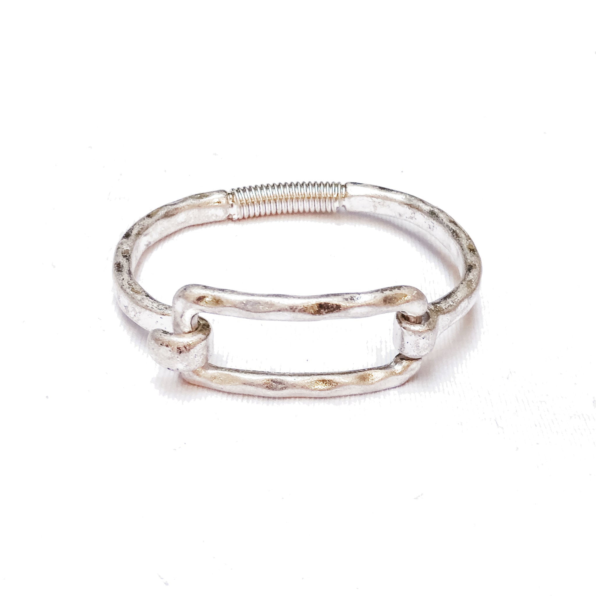 Silver-Plated Rectangle Bracelet