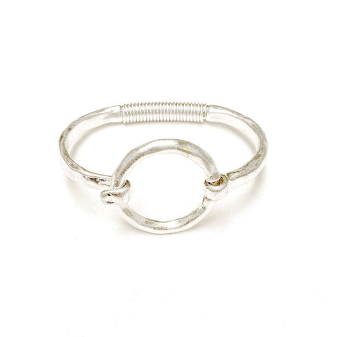 Silver-Plated Circle Bracelet