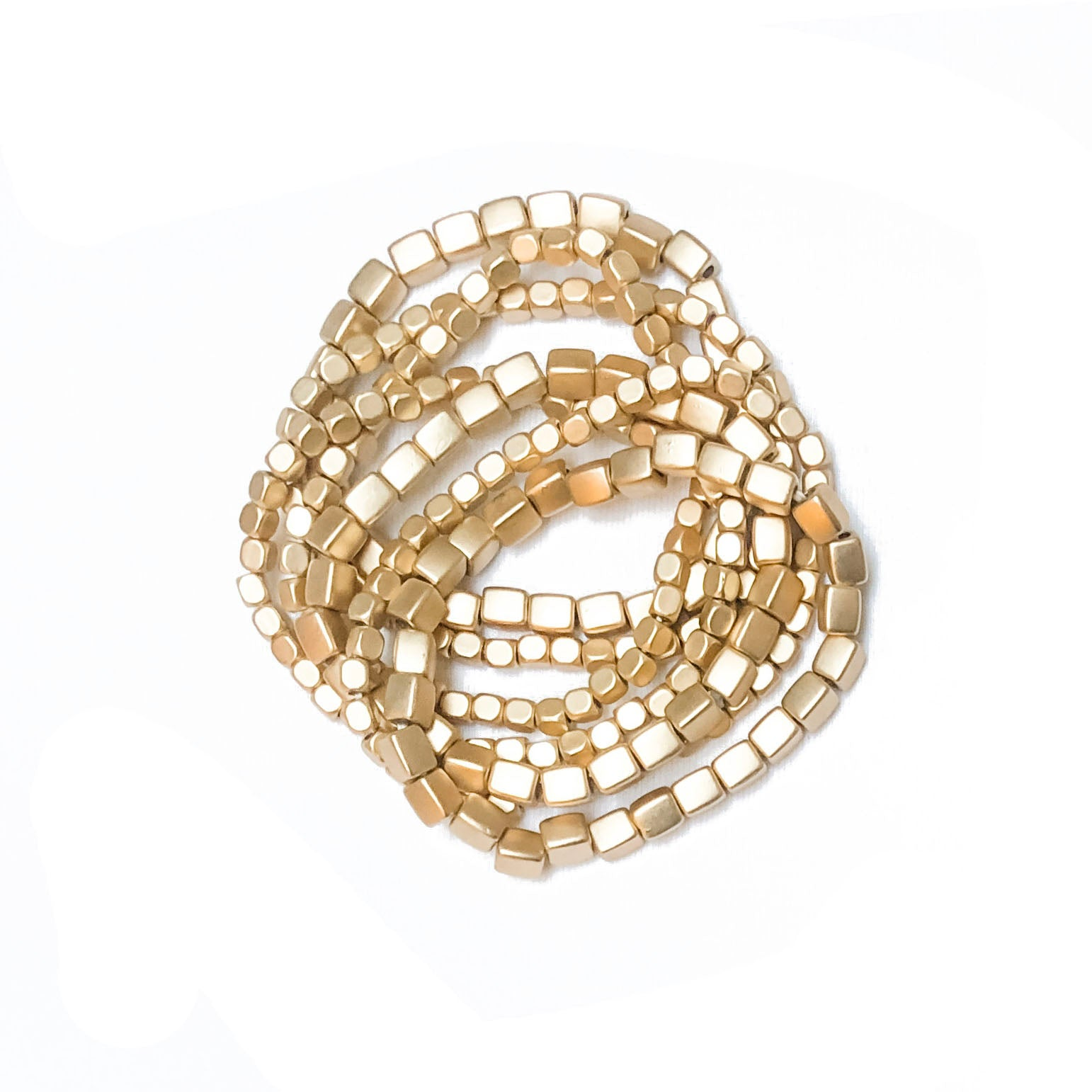 Gold-Plated Multi Strand Beaded Bracelet