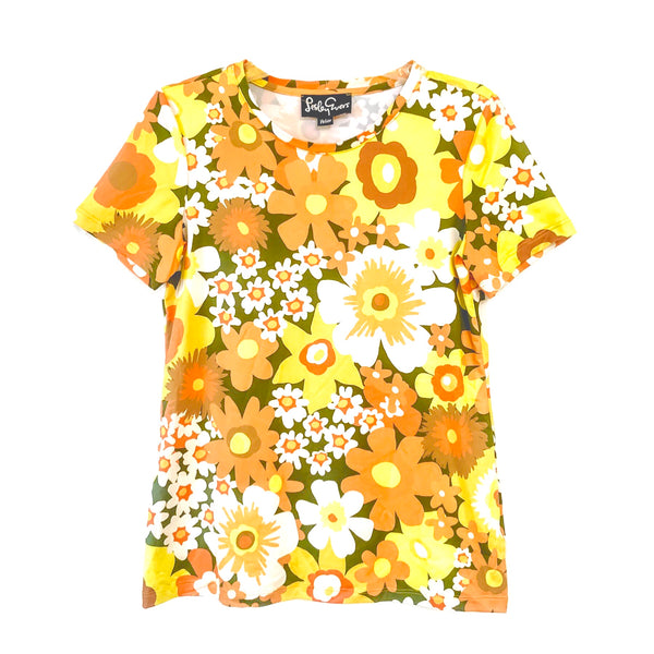 SUZI tee Yellow Flower Power