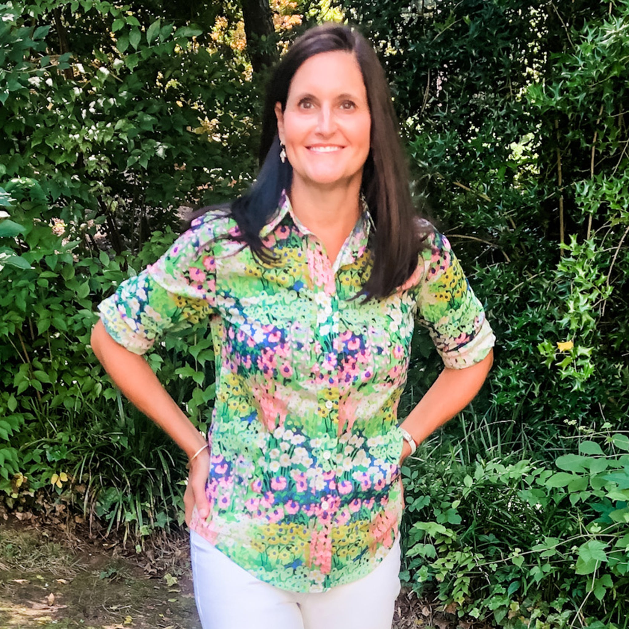 KATHRYN blouse Garden Flower