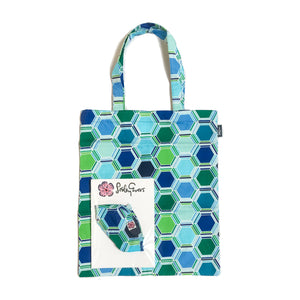 MASK/TOTE SET Blue Honeycomb