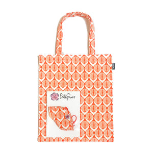 MASK/TOTE SET Orange Danish Flower
