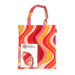 MASK/TOTE SET Pink Wave