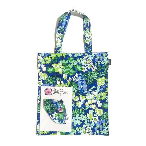 MASK/TOTE SET Queen's Garden Blue