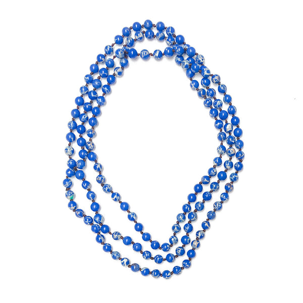 Royal Blue Stone Beaded Necklace