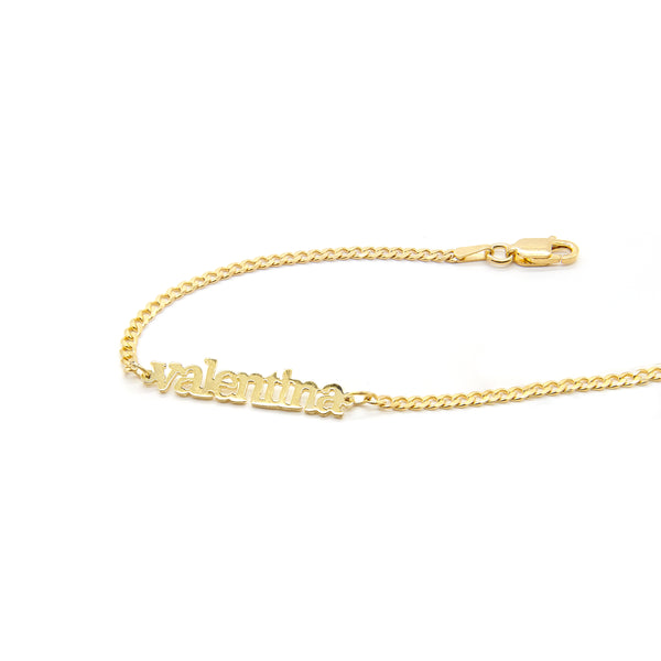 Personalized Curb Chain Anklet