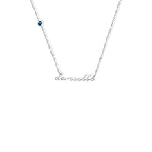 Load image into Gallery viewer, PERSONALIZED SATELLITE BIRTHSTONE NECKLACE