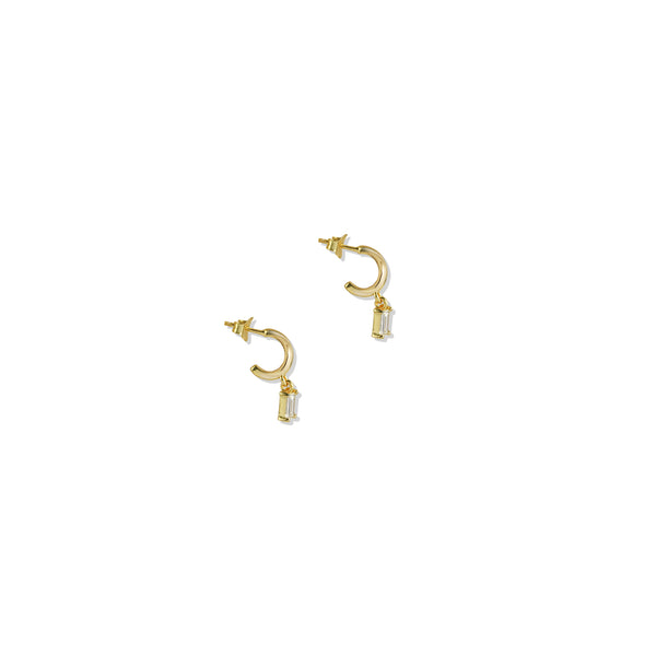 Baguette Drop Earring