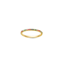 Load image into Gallery viewer, Rainbow Ella Stacking Ring