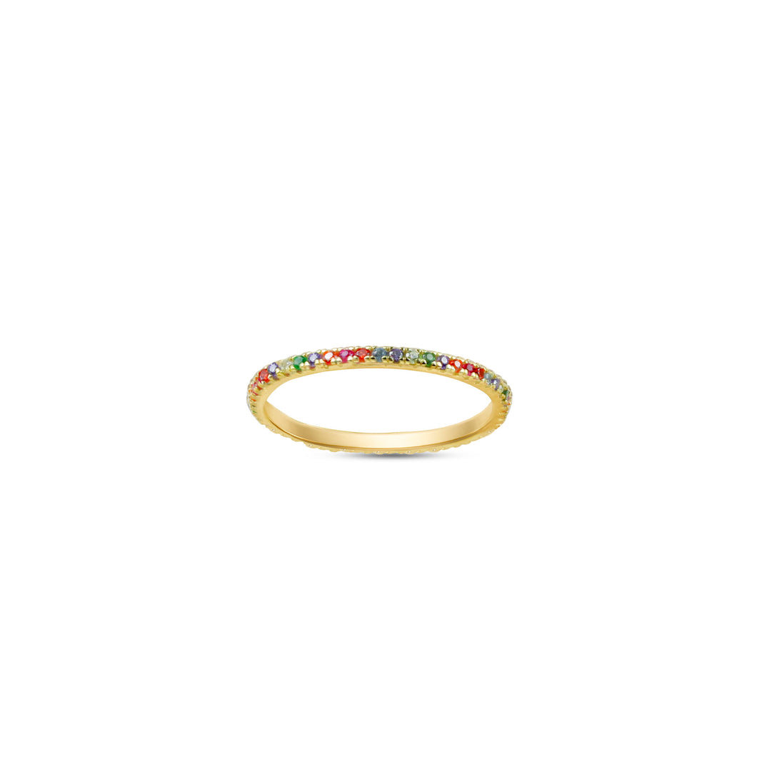 Rainbow Ella Stacking Ring