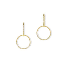 Load image into Gallery viewer, Perla Circle Drop Earrings
