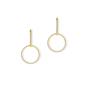 Perla Circle Drop Earrings