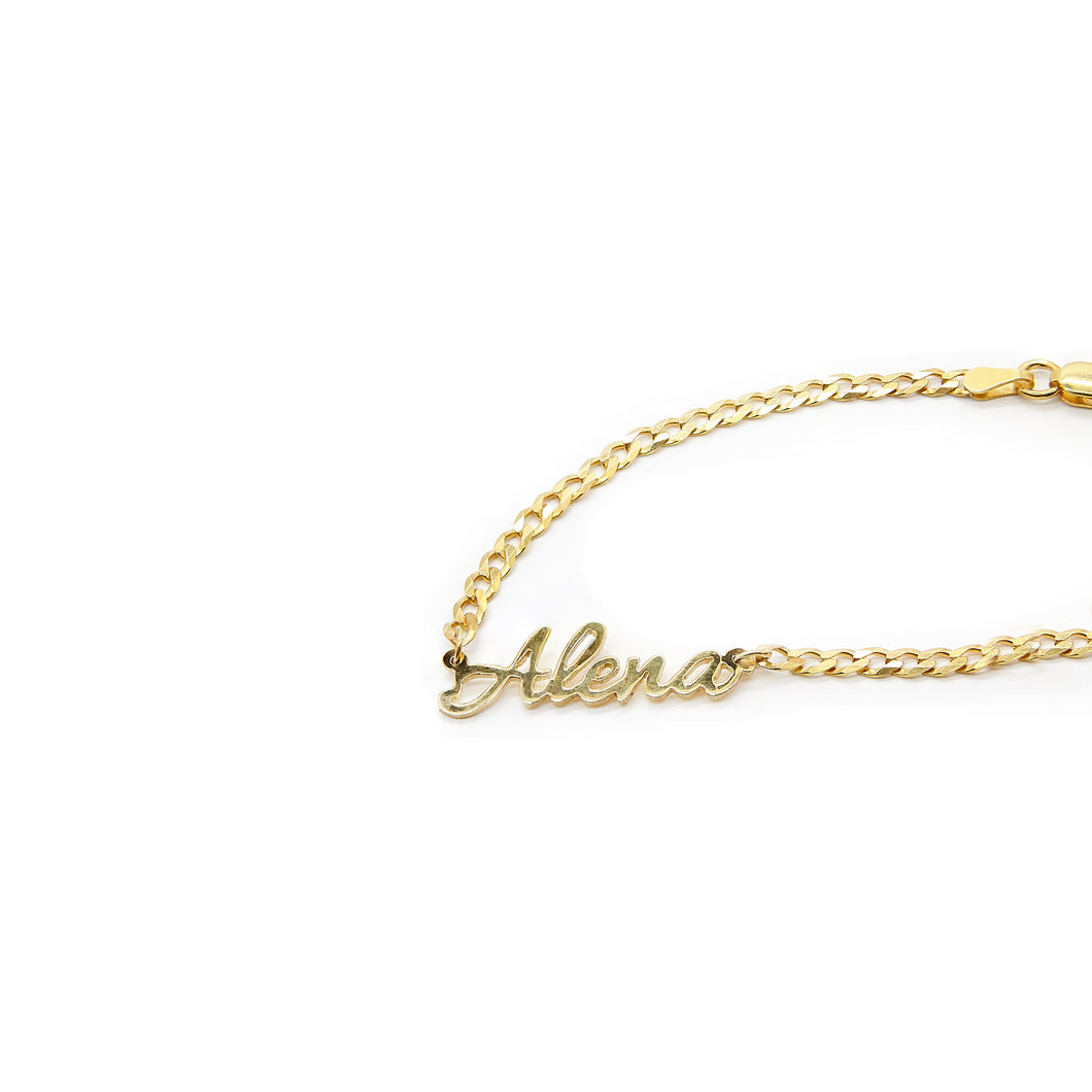 Personalized Curb Chain Bracelet