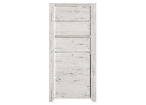 Aalborg 1 Door 3 Drawer Chest