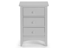 Cameo Dove Grey 3 Drawer Bedside