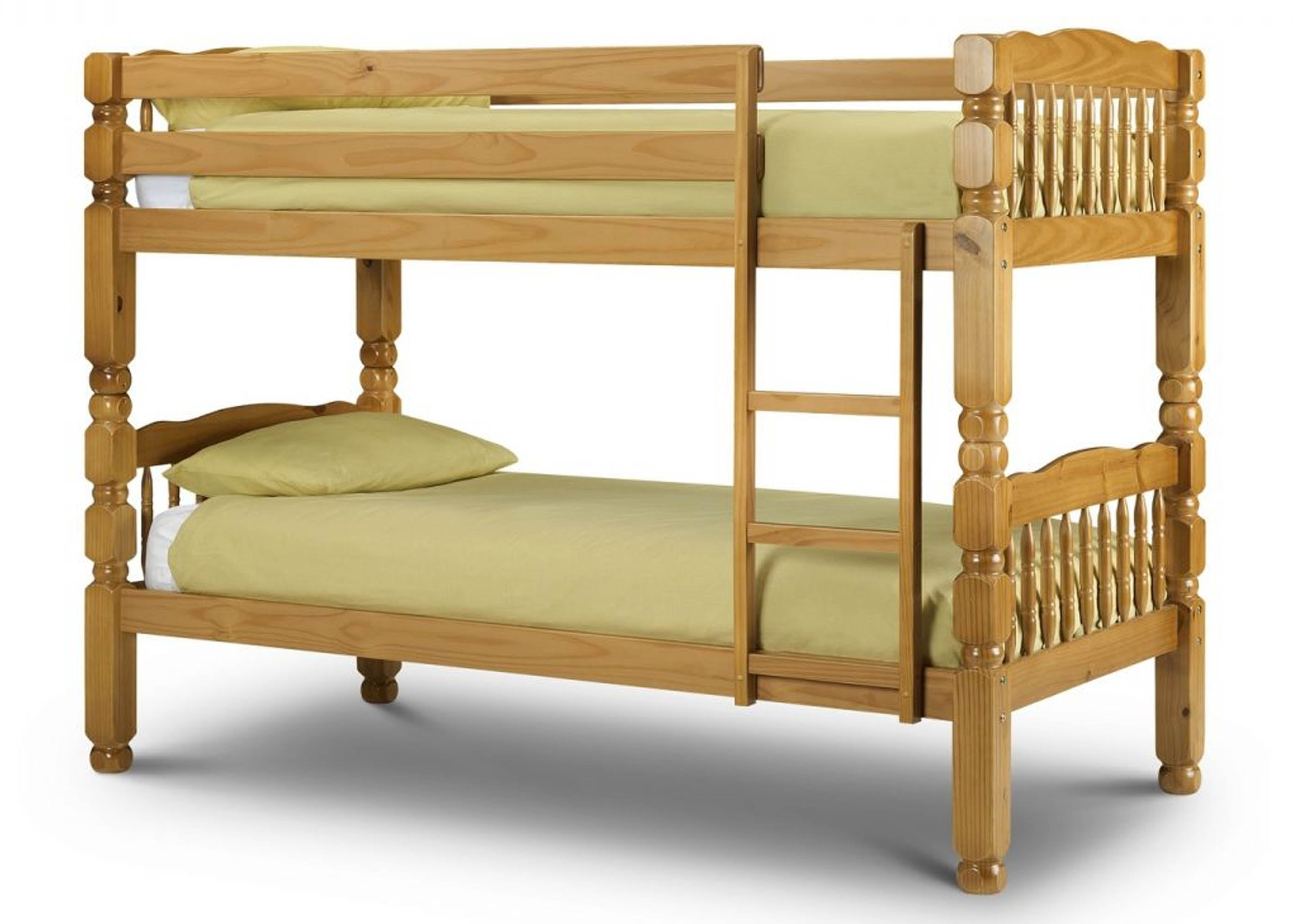 Picture of: Chunky Solid Wooden Bunk Bed Reinforced Beds