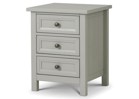 Maine 3 Drawer Bedside