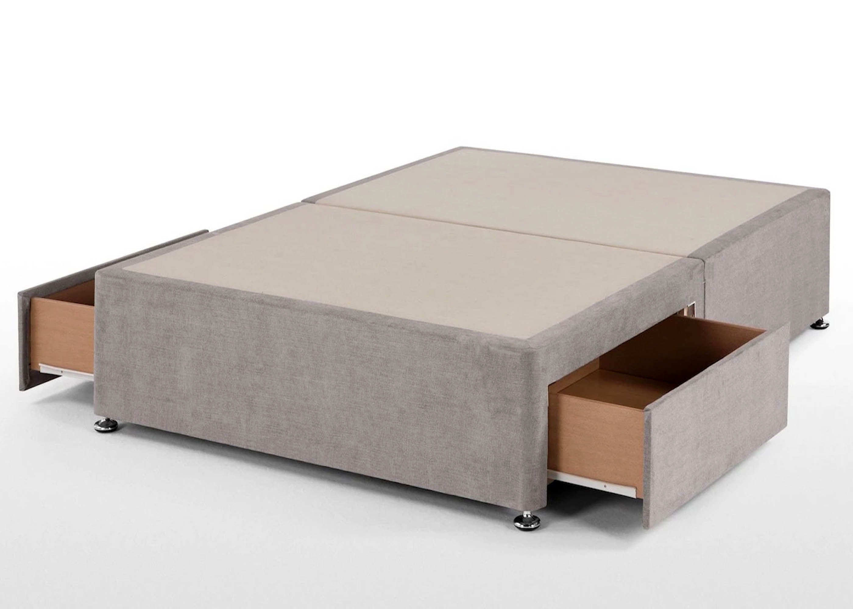 Reinforced divan base suitable for large people for Cheap single divan bed base