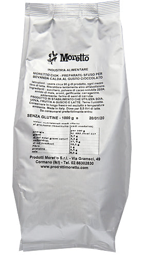Moretto White Hot Chocolate 6kg - 6x1kg packs Italian Drinking Chocolate