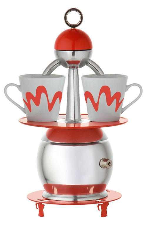 "2 Cup ""Papalina"" by Top Moka Italia (Red)"