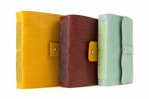 Colourful Contemporary Leather Artists' Sketchbooks handmade in England