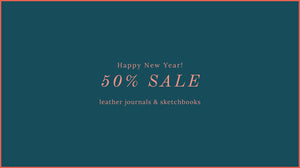 50% Sale on leather journals and sketchbooks at Bound by Hand