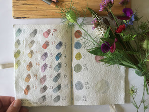 Cotton Rag Sketchbook for pencil and watercolour, Bound by Hand