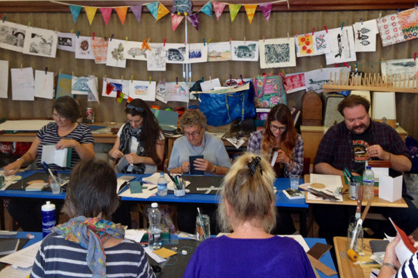 Book making evening class with tutor Susan Green