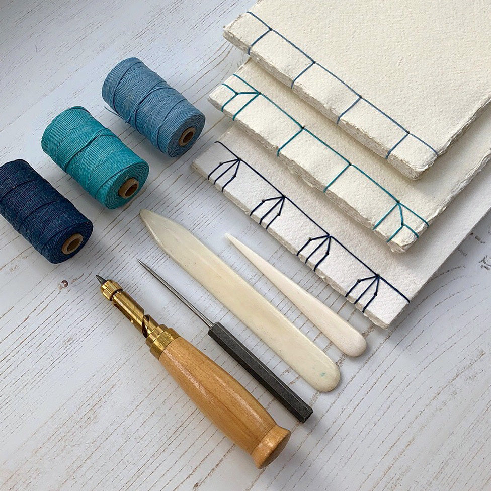 Cotton Rag Sketchbook: Japanese Stab Stitch styles from bound by hand