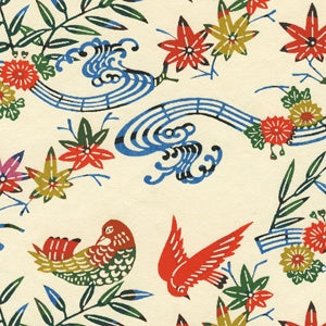 Katazome Shi birdsong paper for bookbinding