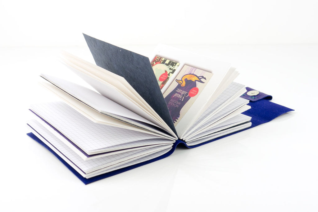 Repurposed signature dividers in a handmade book