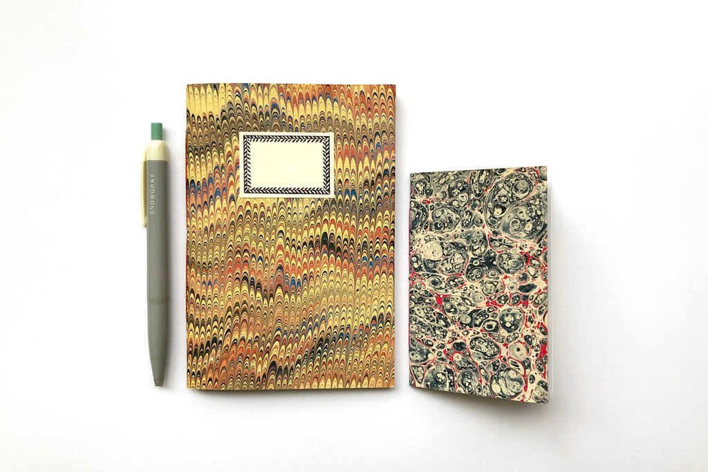 Marbled Notebook Set: A6 and A7
