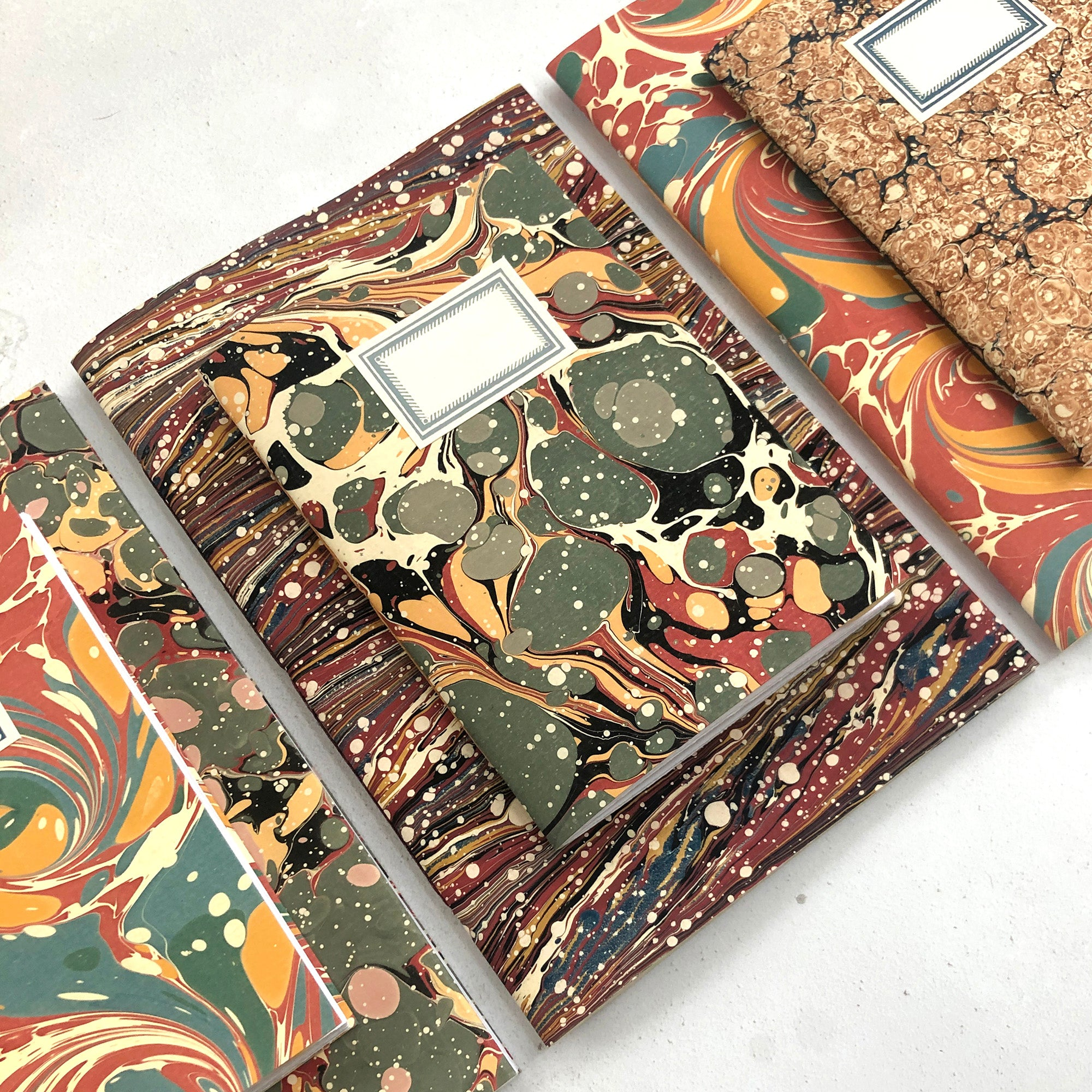 Marbled Notebooks and Vegan Sketchbooks