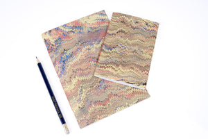 Marbled Notebooks hand made in the UK from the studio of Bound By Hand