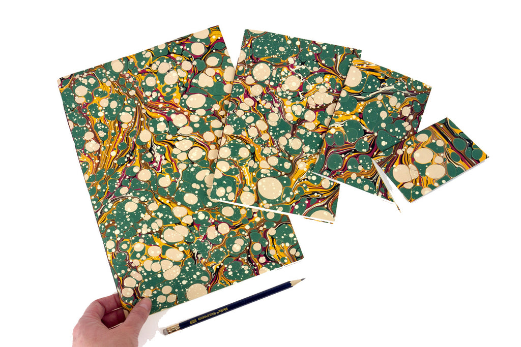 Green Spot Marbled Notebooks