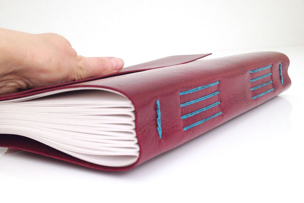 Maroon Leather Journal Retirement Gift