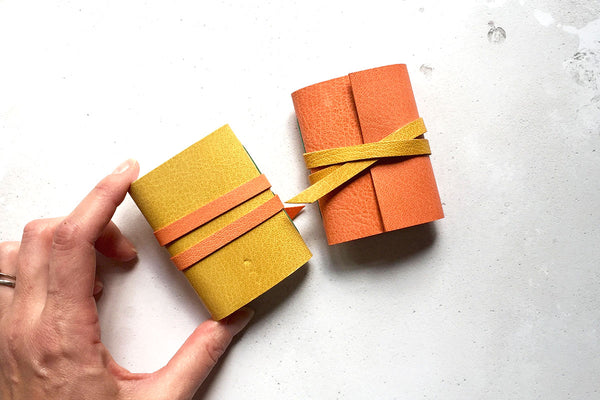 Handmade Mini Leather Journals
