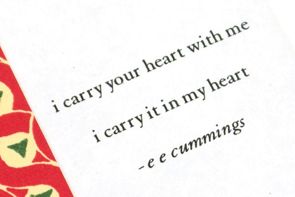 Mini Leather Journal Sweet Sixteen gift for daughter with e e cummings poem i carry your heart