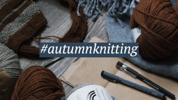 #autumnknitting hashtag with yarn