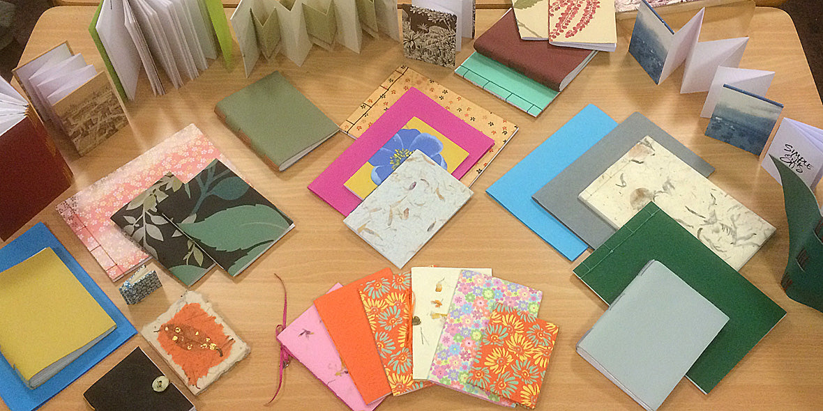 Book Making Workshop in Dorset with Susan Green
