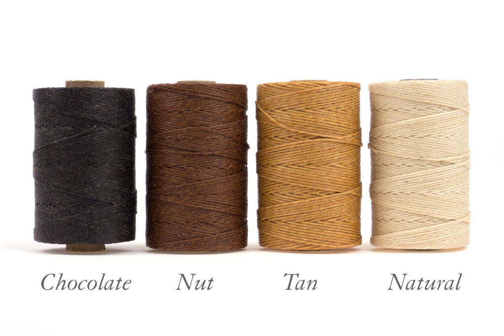 Chocolate, Nut, Tan, Natural Linen Thread 4 ply waxed for book binding