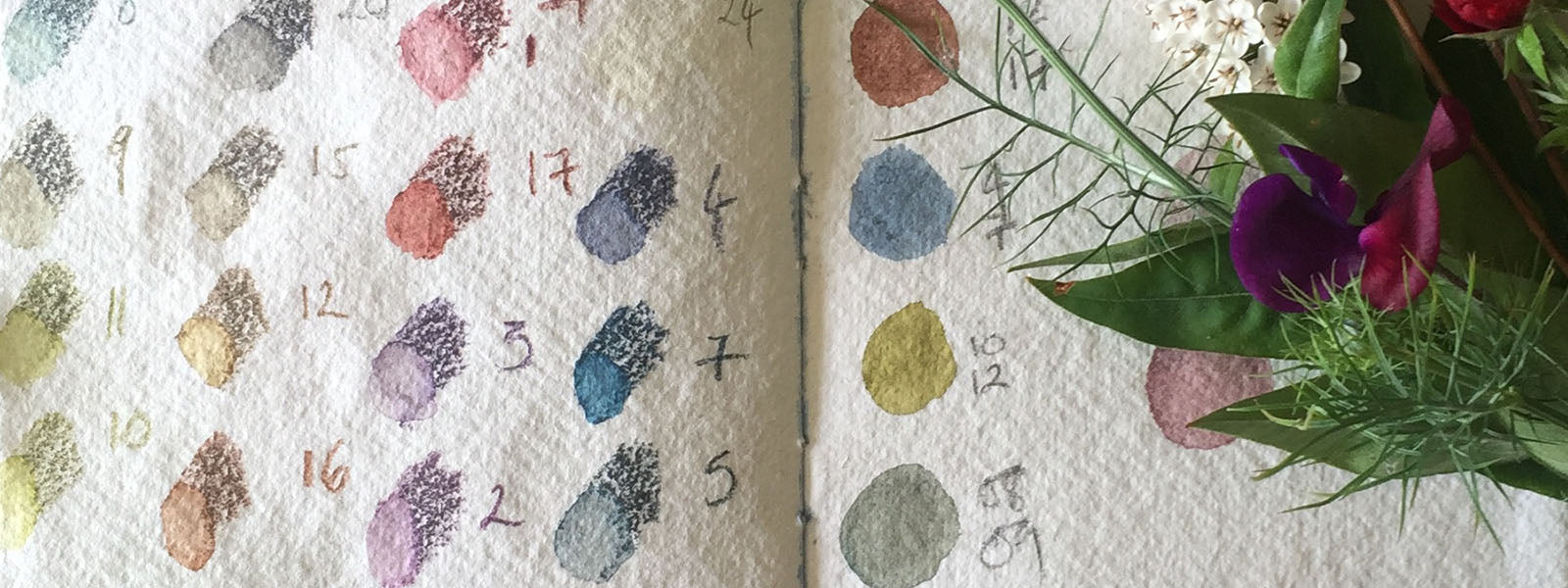 Cotton Rag Sketchbook with colour samples