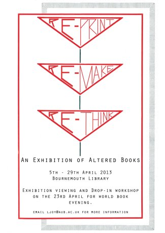AUB Fine Art Altered Books Exhibition Bournemouth Library 2013