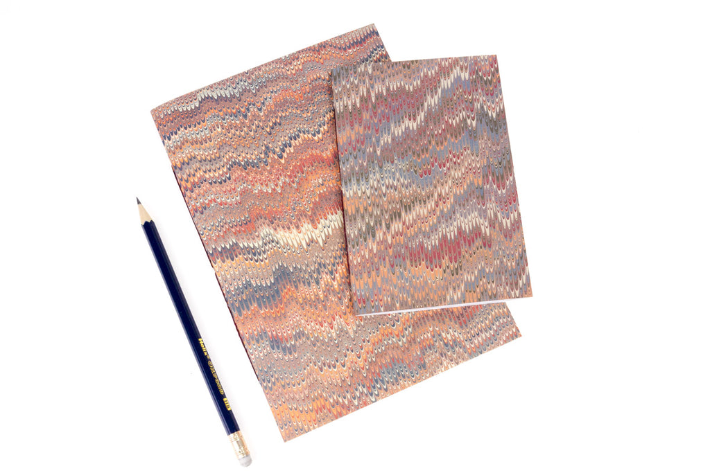 Vintage Hand Made Marbled Paper Notebooks