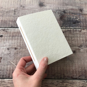 Cotton Rag Concertina Sketchbook with Linen Thread