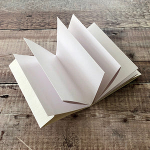 Concertina or Accordion Sketchbook with Cartridge Paper